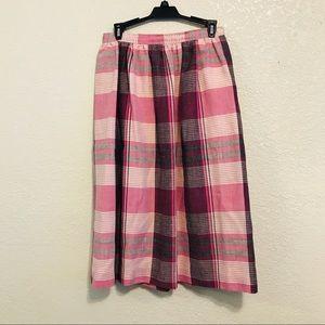 Vintage skirt plaid union made pockets lined USA